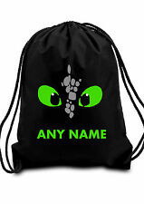 Personalised HOW TO TRAIN YOUR DRAGON TOOTHLESS BAG Swimming PE Dance School