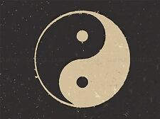 PAINTING DRAWING TAOIST PHILOSOPHY YIN YANG BLACK WHITE ART PRINT POSTER MP3849A