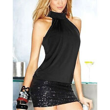 Sexy Shinning Night Wear Party Club Evening Cocktail Mini Short Dress babydoll