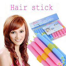 Newest 12pcs/set Soft Foam Anion Bendy Hair Rollers Curlers Cling for Womens