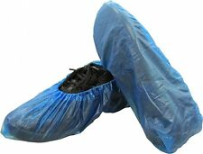 "Shield Safety 16"" Economy Disposable Blue Bottom Shoe Cover 400 Pieces"
