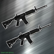 (2) TWO AR15 AR-15 Vinyl Decal Sticker For Car Laptop Skateboard NEW USA Rifle
