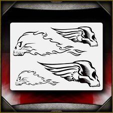 """""""Wing & Fire Skulls"""" Airbrush Stencil Template Airsick"""