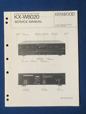 KENWOOD KX-W8020 CASSETTE SERVICE MANUAL ORIGINAL FACTORY ISSUE GOOD CONDITION