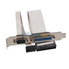 PCI Slot Header Serial DB9 Pin COM with Parallel DB25 Pin LPT Cable Bracket #3YE