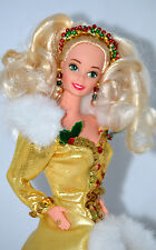 Happy Holidays Special Edition Barbie Doll 1994 Mattel  #12155 Gold Dress