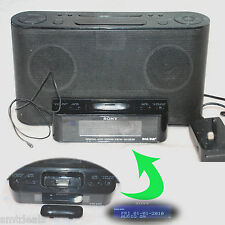 Sony XDR-DS12iP iPod / iPhone Docking Altoparlante NERO CON RADIO & CLOCK-NO TELECOMANDO