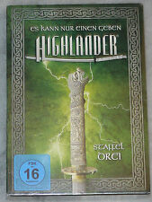Highlander - Season Series 3 Three Complete DVD Box Set NEW & SEALED Region 2