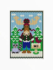 Giant Moose Welcome Beaded Banner Pattern