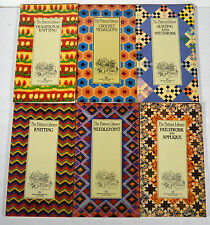 Lot 6 Vintage 1980s Knitting Patchwork Needlepoint Quilting Crochet Pattern Book