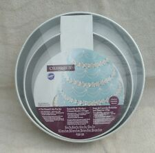 """Celebrate It® 4-Tier Round Cake Pan Set6"""", 8"""", 10"""", 12"""" CLEARANCED ~ NEW"""