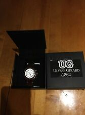 Ulysse Girard Men's Ceramic Trudeau Brown Band White Dial NIB.