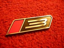 "FORD MUSTANG ROUSH STAGE 3 ""3"" RED AND BLACK GRILL GRILLE FENDER TRUNK EMBLEM"