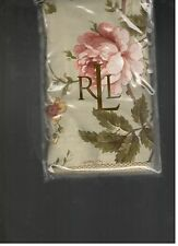 Ralph Lauren Yorkshire Rose Cream Floral Green Euro European Sham 1st Quality