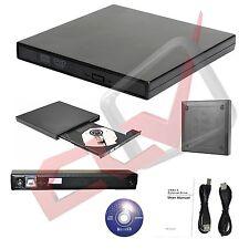MASTERIZZATORE ESTERNO DVD CD RW SLIM Lettore USB 2.0 NERO NUOVO Sped. 24/48h