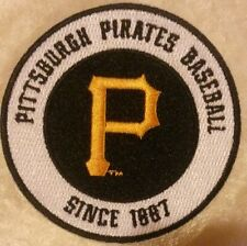 "Pittsburgh Pirates Baseball 3.5"" Iron On Embroidered Patch"