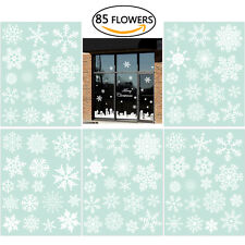 85pcs Snowflake Window Clings Christmas Window Decorations 33 Different Snowflak