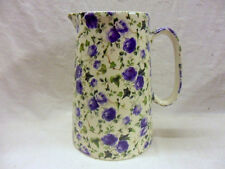 Blue Ivy Rose design 4 pint pitcher jug by Heron Cross Pottery