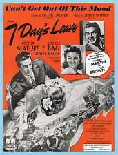 CAN'T GET OUT OF THIS MOOD / 7 DAYS LEAVE w/ LUCILLE BALL & VICTOR MATURE (1942)