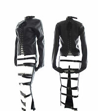 PVC Leather Womens Full Body Suit Restraints Bondage Straight Jacket Fancy dress