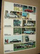 Dépliant gamme  SIMCA 1000 à 1500 -1965-  catalogue, prospekt, brochure