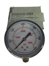 "ABS PRESSURE GAUGE 4FLX2, 0-6000PSI, DRY, ACYLIC, 2 1/2"", NEW IN BOX, G05"