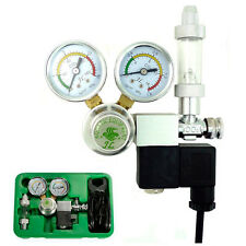 Co2 Regulator Magnetic Solenoid Two Gauges Meter Bubble Counter Planted Aquarium