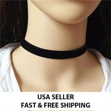 Black Red Velvet Choker Ribbon Necklace Gothic Handmade Retro Burlesque Jewelry