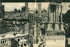 QUADERNO fascismo anni 30 ROMA NUOVE VESTIGIA