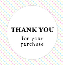 50 Thank You Stickers For Your Purchase Round Sheet Text Circle Order Buying