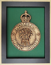 Large Scale Framed THE WOMEN'S LAND ARMY Badge Plaque