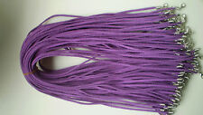 Wholesale 30pcs purple Suede Leather String 20 inches Necklace Cord