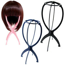 New Folding Plastic Stable Durable Wig Hair Hat Cap Stand Display Holder Tool