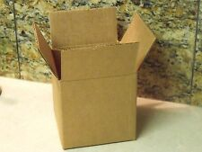 """Pack of 6 Heavyweight Corrugated COFFEE MUG SIZE BOXES - 4"""" X 4"""" X 4"""" Square"""