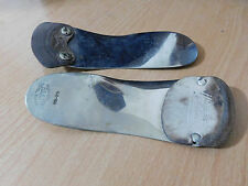 2 Vintage Metal & Leather Foot Support Shoe Lasts Shoehorns Hinders & Dr Scholls