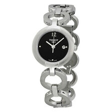 Tissot Pinky Black Dial Stainless Steel Ladies Watch T0842101105700