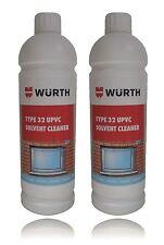 Genuine WURTH PVC solvente CLEANER 1 Litro Bottiglia TIPO 32 UPVC telaio della finestra x 2