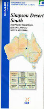 Simpson Desert South SG53-08 1 250,000  topographic map brand new latest edition