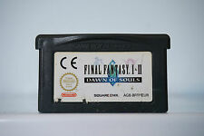 Final Fantasy I & II 1 and 2 Dawn of Souls gameboy advance game boy GBA DC820