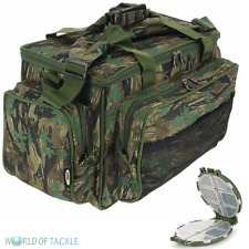 Fishing Carryall CAMO Insulated Tackle Bag NGT Holdall Carp FREE TACKLE BOX