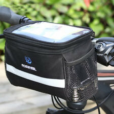 Bike Handlebar Bag Pouch Bicycle Pannier Frame Tube Cycling Front Basket Outdoor