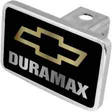 New Chevrolet Duramax Gold/Mirrored Word Hitch Cover