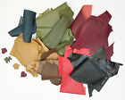 VEG TAN LEATHER SHEEPSKIN OFF CUTS CRAFT PACK 800 GRMS ASSORTED COLOURS