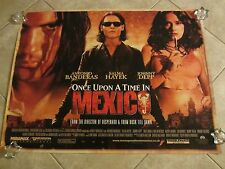 ONCE UPON A TIME IN MEXICO movie poster  JOHNNY DEPP, ANTONIO BANDERAS