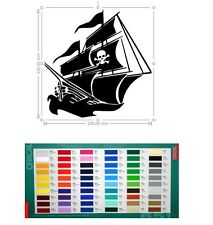 pirate vinyl car sticker, decal, window oracal 651