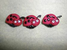 LADY BUG with big eyes - Novelty Theme Button - by Dress It Up/All Crafts