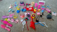 Huge Variety Lot of Barbie  Accessories - record players,coke,rockers,ect