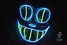El Wire Cheshire Cat RaveParty Cosplay Halloween Costume Vendetta Handmade Mask