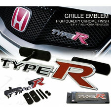 Honda Type R Chrome Grille Badge. Civic, Accord, Prelude, Integra TypeR ep3 fn2