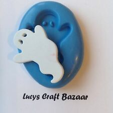 Silicone Mould Spooky Halloween Ghost Cake Decorating Sugarcraft Topper Sculpey